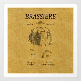 Bra Patent 11 Art Print
