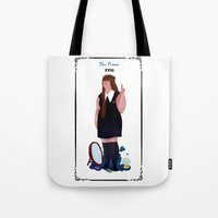 nan lawson Tote Bags featuring nan by quentinschall