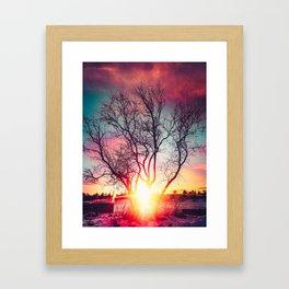 Flaming Framed Art Print