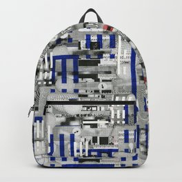 The Way of Invisible Things (P/D3 Glitch Collage Studies) Backpack