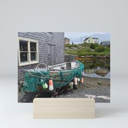 Nova Scotia, Nautical Fishing Boat Mini Art Print