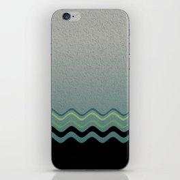 Grey &green iPhone Skin