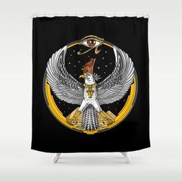 Egyptian Falcon God Horus Shower Curtain