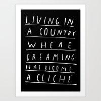 CLICHE Art Print