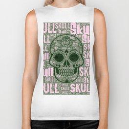 WordArt Skull A Biker Tank