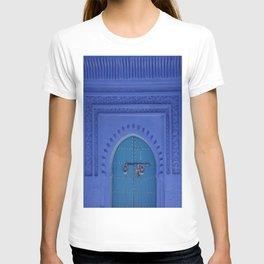 Islamic Architecture Blue Turquoise Secret Doorway Beautiful Engravings T-shirt