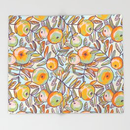 Bright apples Throw Blanket