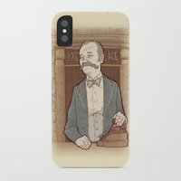 wes anderson iPhone & iPod Cases featuring Monsieur Ivan or Bill Murray on The Grand Budapest Hotel from Wes Anderson by suPmön