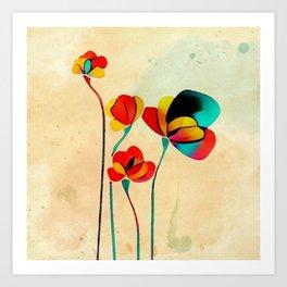 Exotic Watercolor Flower Art Print