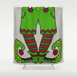 Santa's helper 2 Shower Curtain