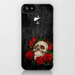 Red Rose Sugar skull iPhone Case
