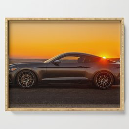 Muscle Car Sunset Serving Tray