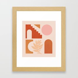 Abstraction_SHAPES_Architecture_Minimalism_002 Framed Art Print