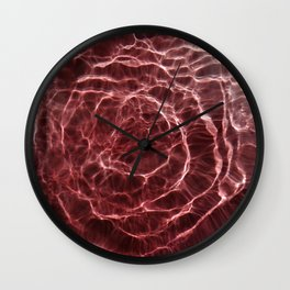 Dark Pink Light Ray Wall Clock