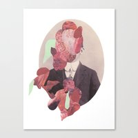 in the flesh Canvas Prints featuring Flesh by Cut and Paste Lady