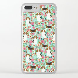 Beagle floral pattern dog breed gifts must have beagles florals pupper Clear iPhone Case