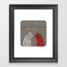 LOVE is a single soul in two bodies Framed Art Print