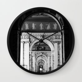 Hallway at the Louvre Wall Clock