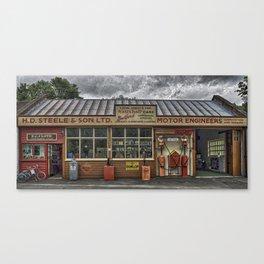 Old village garage. Canvas Print