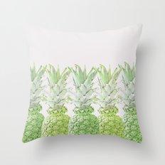 Pineapple Greenery Throw Pillow
