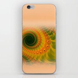 window curtain - fractal elegance orange and green -3- iPhone Skin