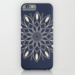 Mandala in the Dark iPhone Case