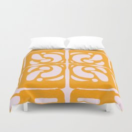 Abstract in Yellow and Cream Duvet Cover