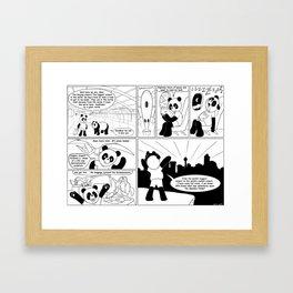 Spandex Panda - Comic 6 - Airports, returning to YYC Framed Art Print