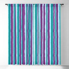 Blueberry Jiggle Stripes Blackout Curtain