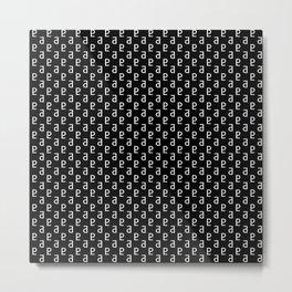 Pluto Noir Pattern Metal Print