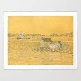 Willard Beach Fishing Shacks Art Print