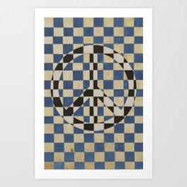 Peace square Art Print