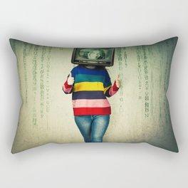 tv instead of head Rectangular Pillow