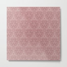 Blush Weave Texture Pattern Design Metal Print
