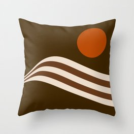 Swell - Cocoa Stripes Throw Pillow