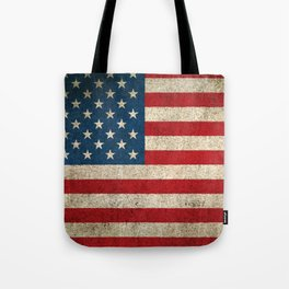 Old and Worn Distressed Vintage Flag of The United States Tote Bag