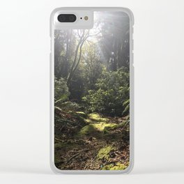 Afternoon Stroll Clear iPhone Case