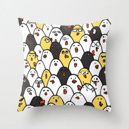 Chicken cluck Throw Pillow