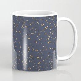 Speckles I: Dark Gold on Blue Vortex Coffee Mug