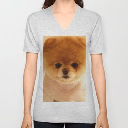 Adorable Pomeranian Puppy Unisex V-Neck