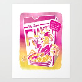 The Super Flake Art Print