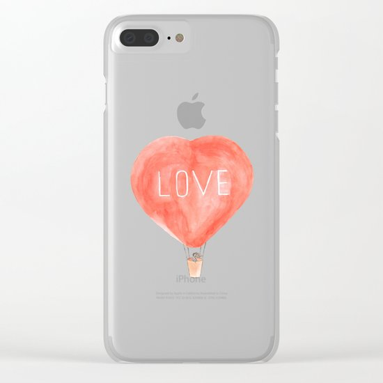 LOVE in the air Clear iPhone Case