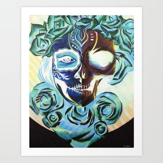 SkullFace Art Print