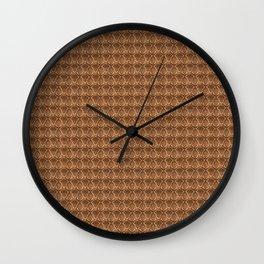 Damask brown Wall Clock