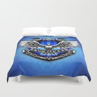 ravenclaw Duvet Covers featuring HARRY POTTER RAVENCLAW by Veylow