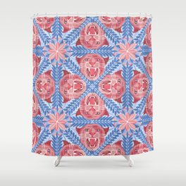 Pink Panther Pattern Shower Curtain