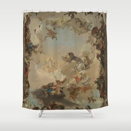 Allegory of the Planets and the Continents by Giovanni Battista Tiepolo Shower Curtain