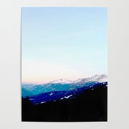 Mountain views abstracted to color blocks Poster
