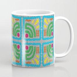 Square Stamp Multi Blue Coffee Mug