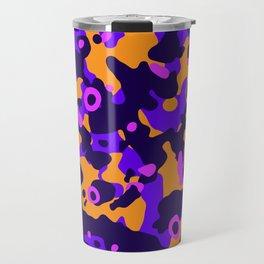Modern colorful camouflage style pattern purple Travel Mug